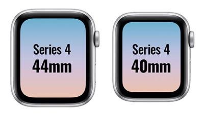 Apple Watch 挿絵 ケースサイズ SERIES 4