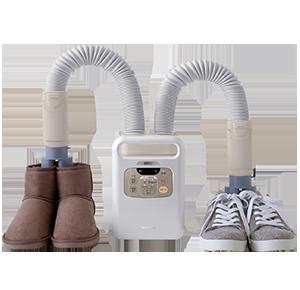 布団乾燥機で靴乾燥ができます