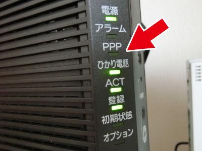 【初心者向け】ネットがつながらないときに確認すべき7項目 光モデムのランプ点灯イメージ