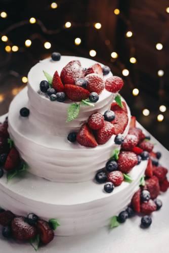 3段クリスマスケーキの写真