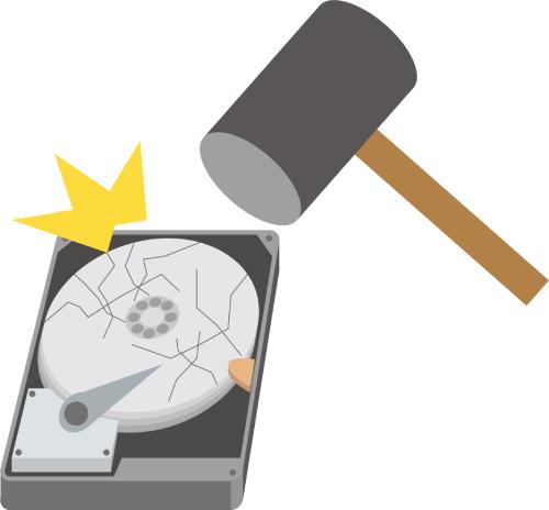 HDD破壊のイラスト