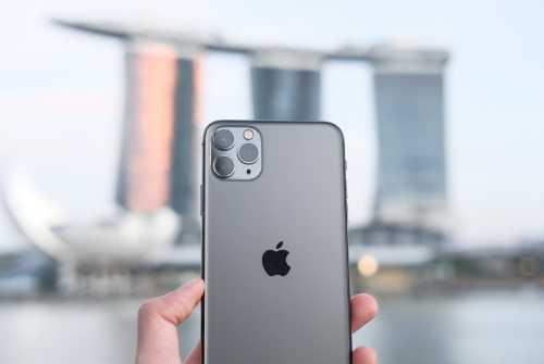 シンガポールでのiPhone11Proの写真