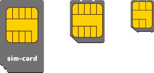 SIMカードの違いの説明画像