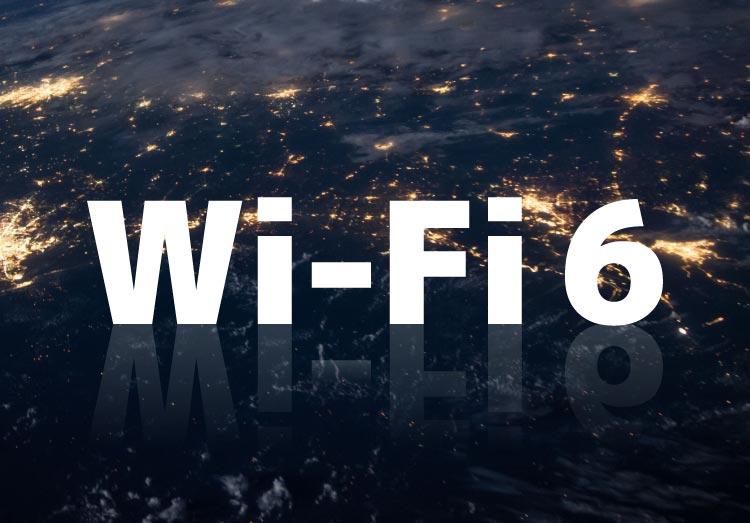 Wi-Fi6の地球の表面の光を表したイメージ画像