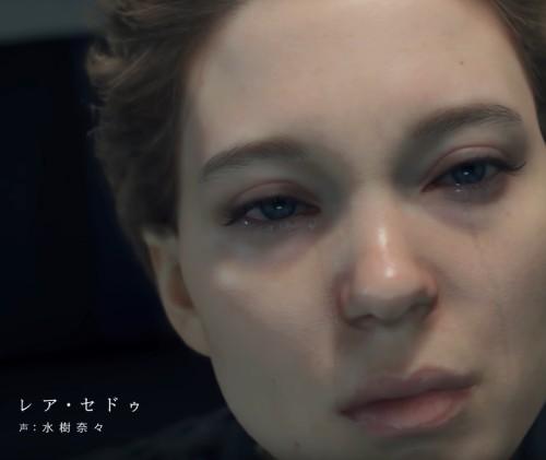 デス・ストランディングのフラジャイル役の顔 レア・セドゥ