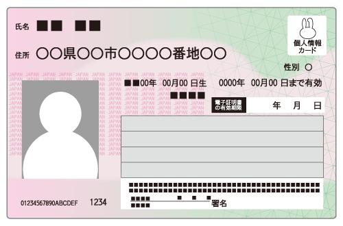 マイナンバーカードイメージ図