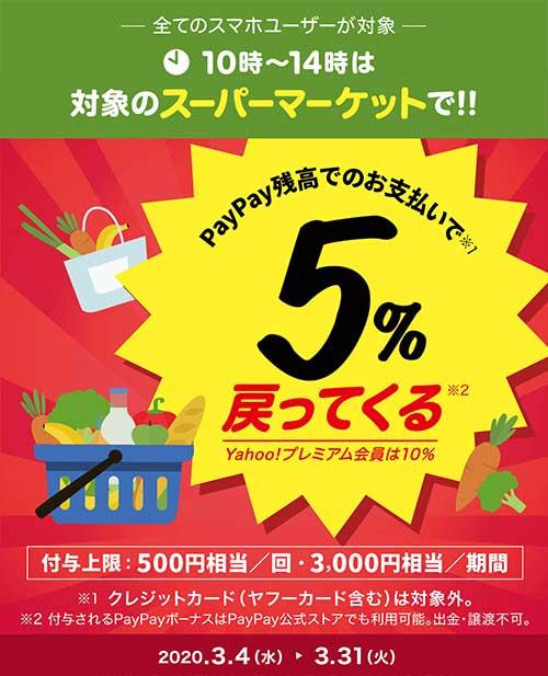 10時〜14時がおトク!春のスーパーマーケット大還元祭
