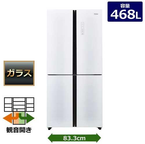 【ハイアール】 冷蔵庫 4ドア JR-NF468A-W