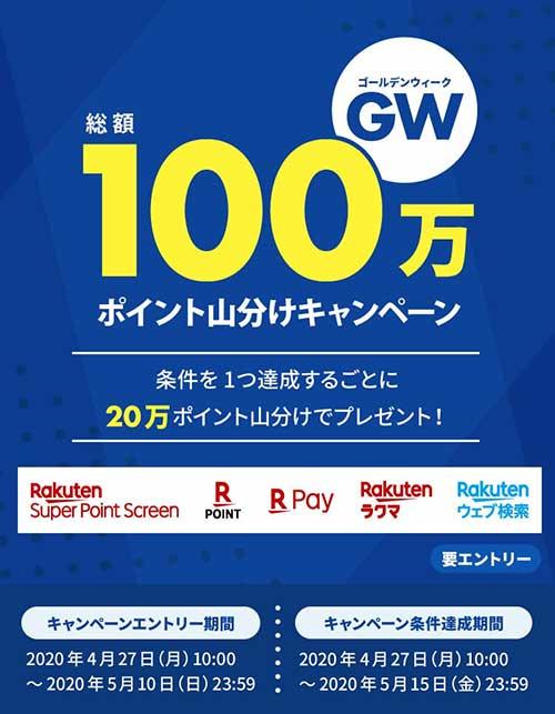 GW総額100万ポイント山分けキャンペーン