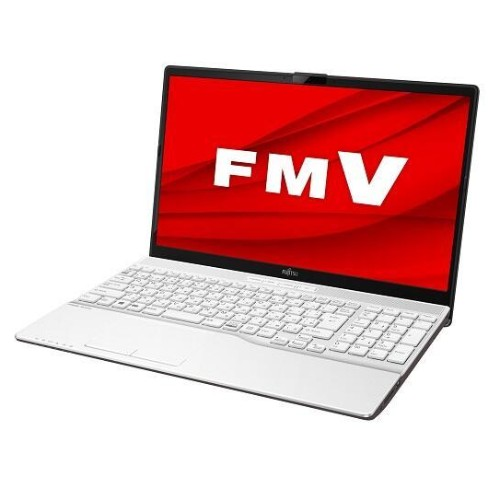 15.6インチ ノートPC LIFEBOOK AH50/E1 Windows10/Ryzen 7 3750H/メモリ4GB/SSD 256GB プレミアムホワイト  FMVA50E1W 商品コード:4580620230910
