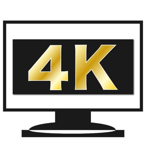 4K対応テレビのイメージ図