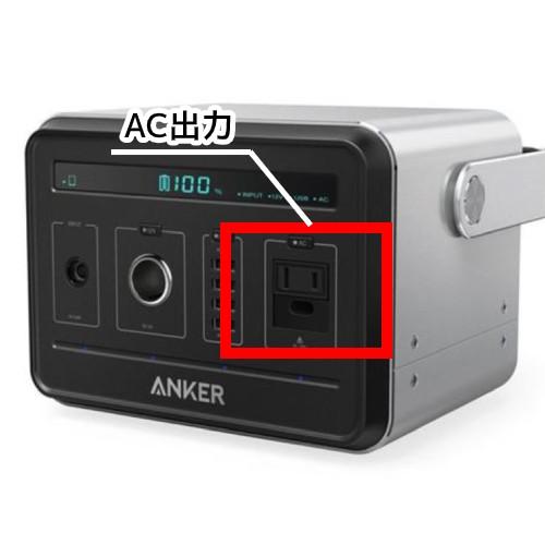 AC出力の位置の図
