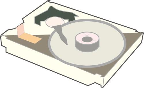 内蔵ハードディスクのイメージ図