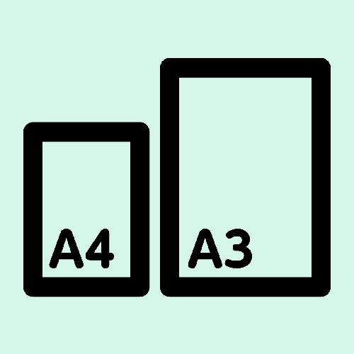 A4とA3の比較イメージ図