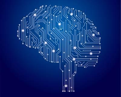 CPUイメージ画像 デジタル頭脳のイラスト