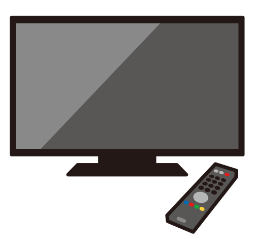 テレビとリモコンのイラスト