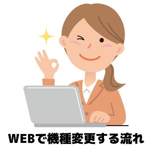 WEBで機種変更する流れのイメージ図