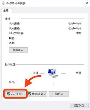 ネットワークの詳細画面