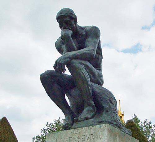 ロダン作「考える人」の写真