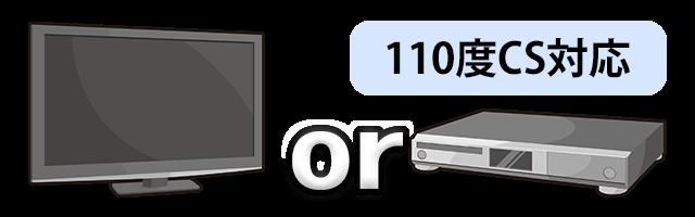 110度CS対応デジタルテレビorレコーダー