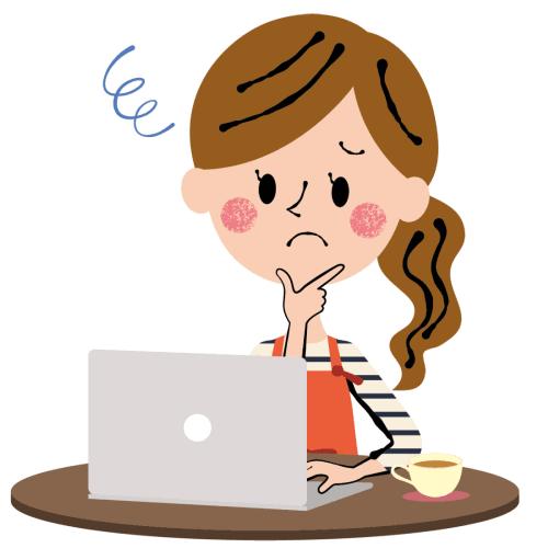 考え事をしている女性のイラスト