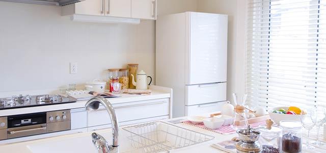 冷蔵庫のあるキッチン