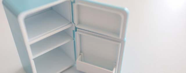 開けっ放しの冷蔵庫