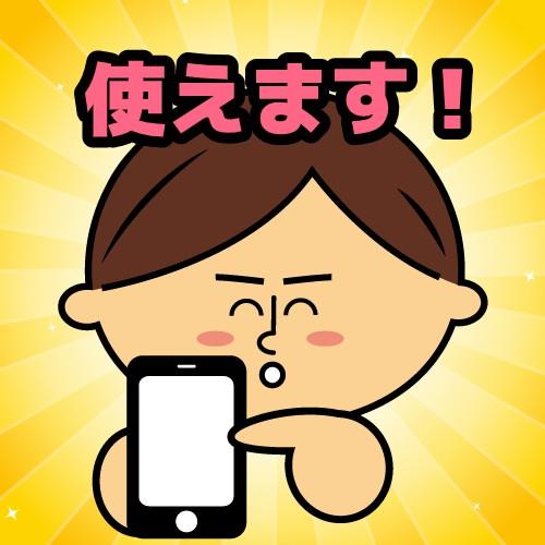 iPhone使えます!