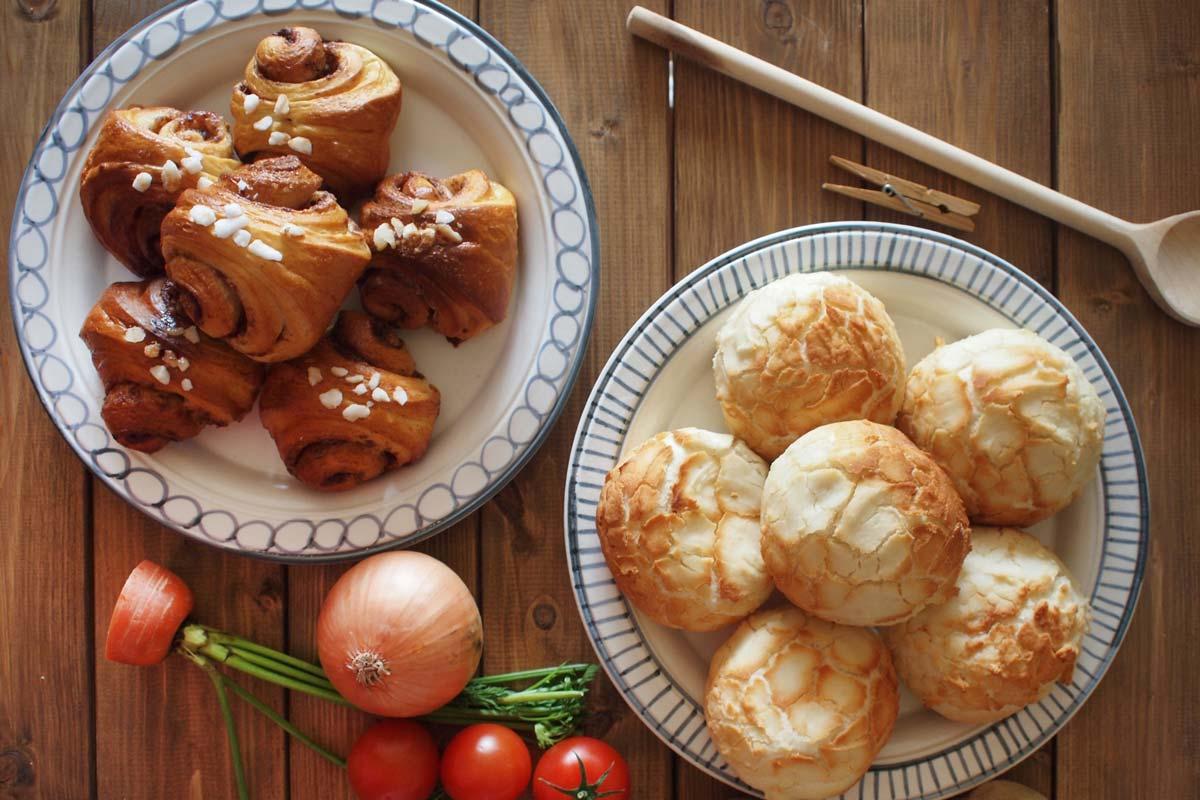 手作りパンの写真