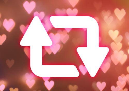 SNSのリポスト・リツイートのイメージ画像