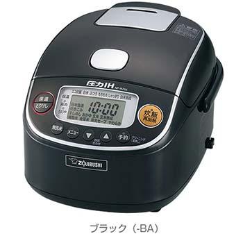 【象印】圧力IH炊飯ジャー「極め炊き」(3合) ブラック NP-RZ05-BA 商品コード:4974305218186