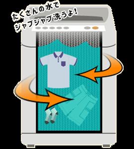 縦型洗濯機の洗い方