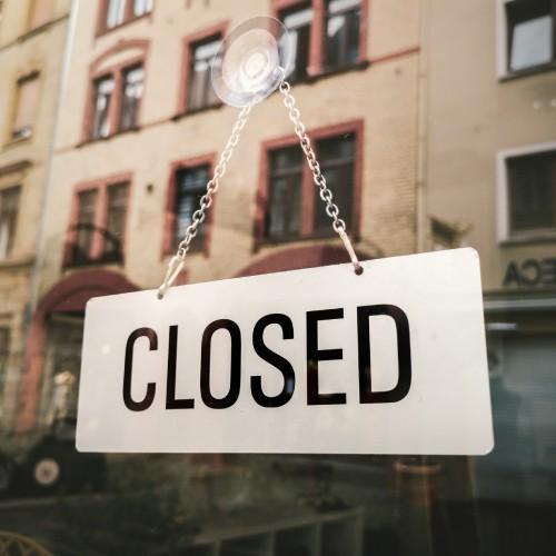 閉店の報告