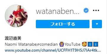 渡辺直美さんのインスタグラムのプロフィール画像