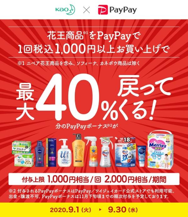 花王の商品購入で40%戻ってくるキャンペーン