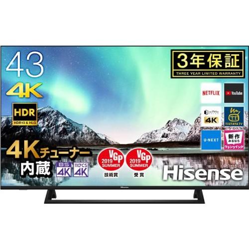 HISENSE ハイセンス 【オンライン限定価格】  UHDTV 43V型 4Kチューナー内蔵  43E6800 商品コード:4580341983676