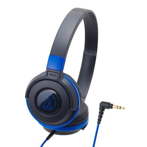【audio-technica】 ヘッドホンイヤフォン ブラックブルー ATH-S100-BBL JAN:4961310123925