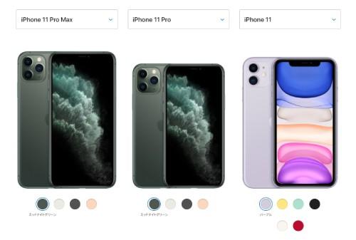 iPhone11本体サイズで比較