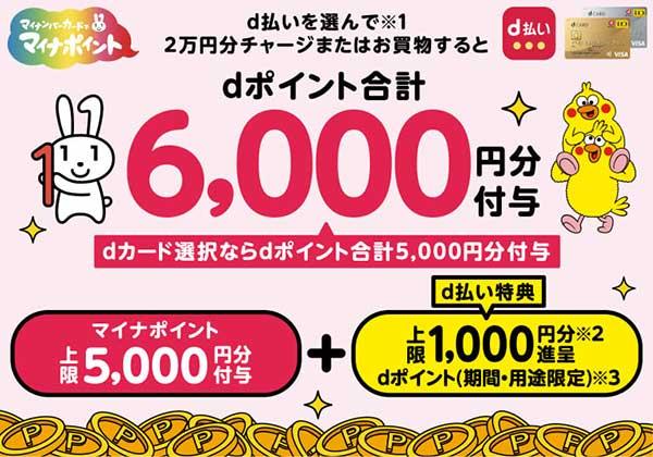 マイナポイント×d払い+5%還元キャンペーン