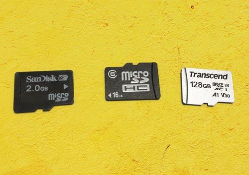 microSDカード3種類