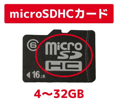 microSDHCカードの容量 解説画像