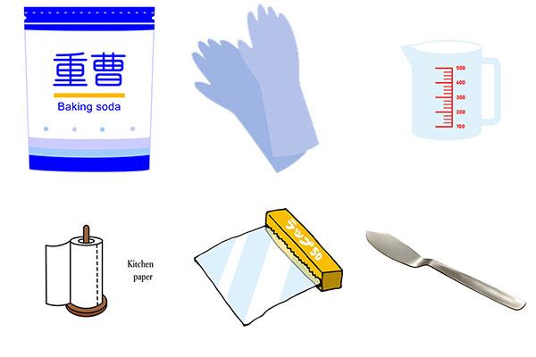 重曹を使った掃除の仕方の画像