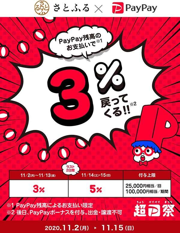 超PayPay祭「さとふる」で超おトクキャンペーン