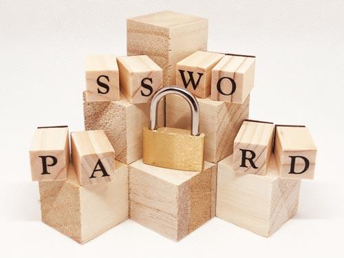 パスワードのブロックの写真