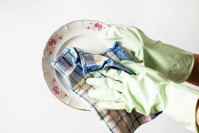 洗った食器を拭く手間が減る
