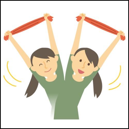 タオルで適度な運動のイメージ