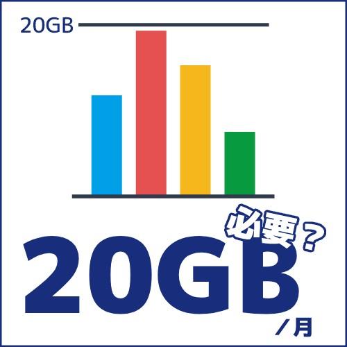 20GB必要?のイメージ