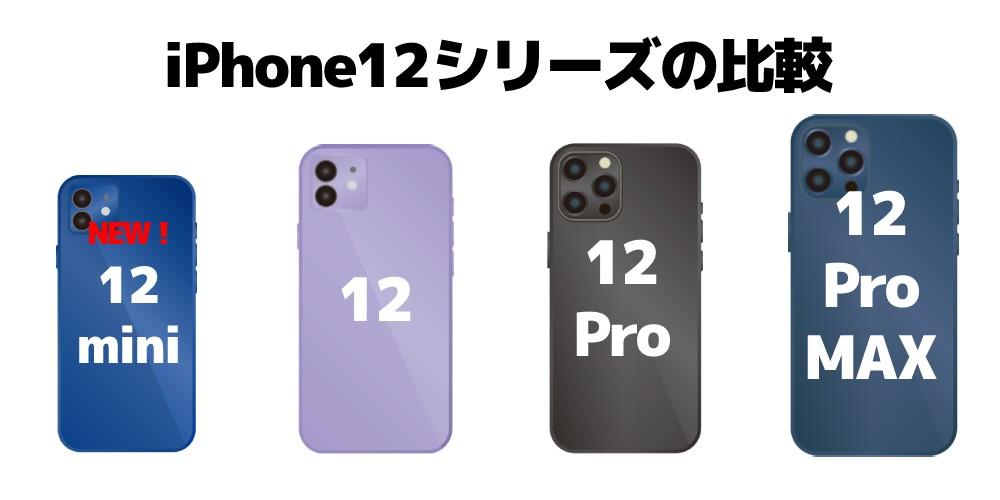 iPhone12シリーズの比較
