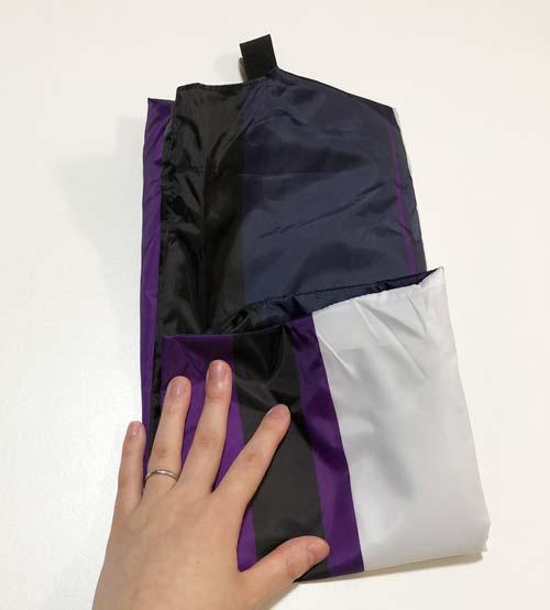 ノジマオリジナル保冷エコバッグの畳み方