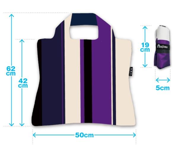 ノジマオリジナル保冷エコバッグのサイズ